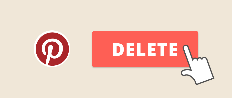 Delete pinterest account banner